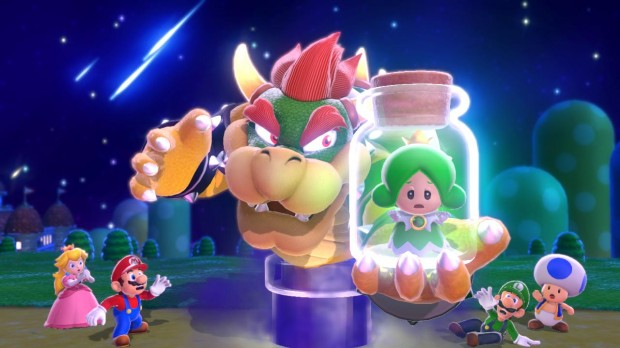 "Peach: ""Oh no! Bowser, I... AND WHO THE HELL IS THAT BITCH?!"""